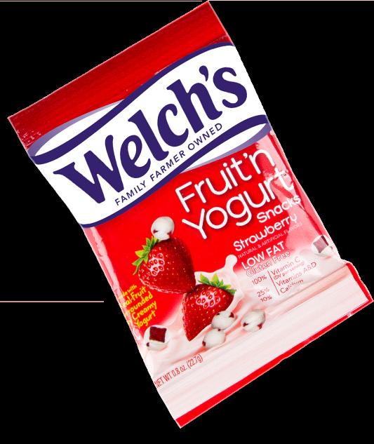 strawberry fruit and yogurt snacks